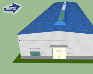 Almacén material manufacturado prefabricado /Workshop/Building/Hangar de la estructura de acero