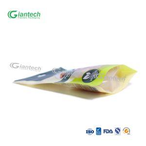 Personalizar el embalaje de alimentos/ Levantarse bolsa con cremallera y ventana transparente