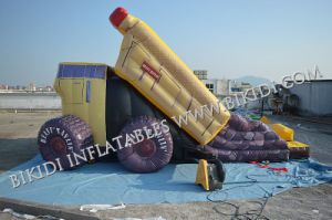 Automobile Design Water Slide, Inflatable Toys, Combo Slide con Different Color