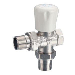 3-Way MANUAL Plated Forged Brass Radiator Valve
