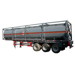 40 Tonnen-chemischer flüssiger Transport-Tanker-halb Schlussteil