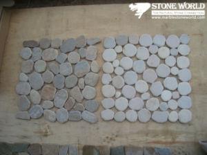 De ronde Grijze Tegels van het Mozaïek van de Lei voor de Decoratie van de Muur (mm061)