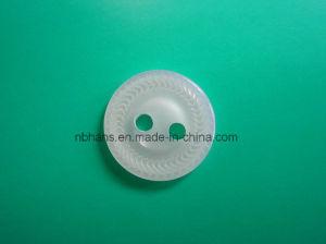 Nuovo tasto di camicia del poliestere di disegno dei 2 fori (S-110)