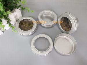 100 G De Chá Lata De Alumínio Com Tampa Roscada Janela Pet Ppc Atc