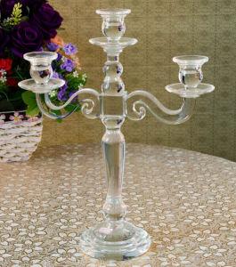 Candleholder cristal artesanal para decoración de Navidad