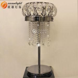 Crystal Abajur Estrutura de aço inoxidável candeeiro de mesa moderna e da luz de leitura