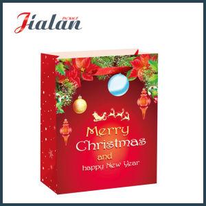즐거운 성탄 & 새해 복 많이 받으세요 쇼핑 운반대 선물 종이 봉지