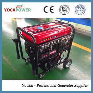 Nuevo diseño de 4kw generador de gasolina y el compresor de aire y el conjunto integrado de soldadura