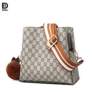 Usine de gros de style européen beau sac à main en cuir pour dames de godet