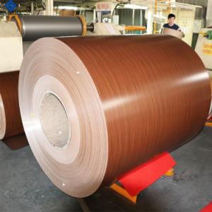 Texture en bois couleur Peinture panneau composite aluminium bobine ACP de matériaux de construction