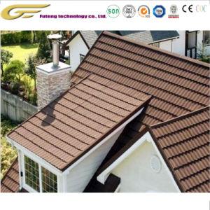 Los materiales de construcción del techo de metal revestido de piedra de la hoja de teja