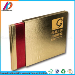 A todo color impreso libro de tapa dura con Metal Color Oro