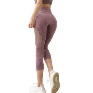 Europeos y Americanos y pantalones de yoga Deportes de la mujer perfecta Leggings Fitness