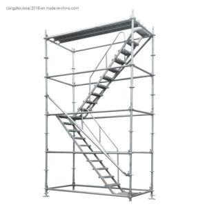 La construcción de aluminio andamios escaleras Ringlock con escalerilla utilizada andamio
