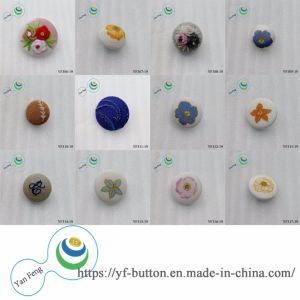 23mm nouvellement bleu imprimé délicat bouton couverts de tissu de couture
