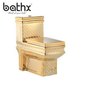 Le luxe de style occidental S-piège de haute qualité et de p-piège de la porcelaine en une seule pièce de l'eau de toilette L'enregistrement de la porcelaine sanitaire (PL-3886)