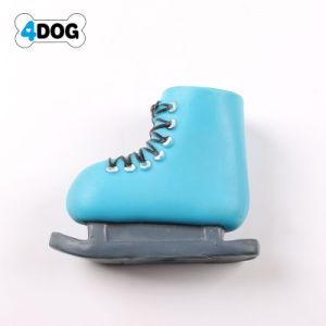 Patins de gelo cão de forma estridente buscar brinquedos brinquedos brinquedos Pet