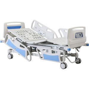 Barato ajustável de dobragem eléctrica médica do paciente na UTI do Hospital Cama de RCP