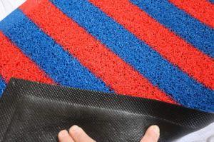 Double couvre-tapis de vente chaud de bobine de couleur de PVC 2017 avec le support noir de mousse (3G-4BES)