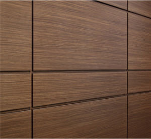 El espresso aspecto madera paneles de pared de aluminio - Paneles madera exterior ...