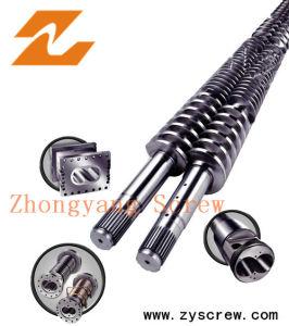 浙江Zhoushan PVC管シートのための円錐対ねじバレル