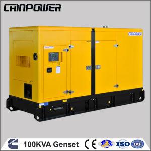 100kVA Groupe électrogène diesel de type silencieux avec groupe électrogène Cummins 80kw