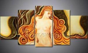 Het moderne naakte olieverfschilderij van de vrouw van de