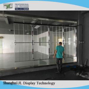 Nouveau design en verre transparent LED RGB Affichage de fenêtre