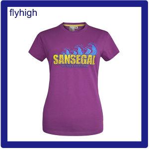 De stevige Douane van de Kleur drukte Unisex- Katoenen T-shirt af