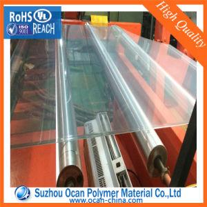 Grosor de hoja de plástico transparente de PVC transparente con membrana para el frío o caliente doblar
