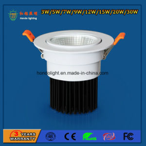 IP20 90lm/W 5W High Power Aluminum COB LED Down Ceiling Spotlight Light voor Amusement Park