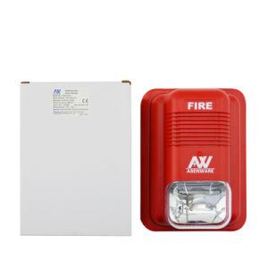 iluminación convencional del estroboscópico LED del sonido del sistema alarma de incendio 100dB