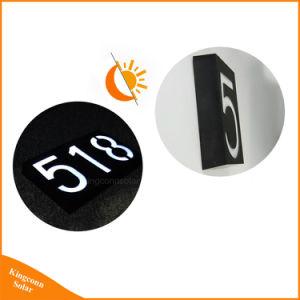 太陽LEDのプラクの屋家番号アドレスはDoorplateライトに署名する