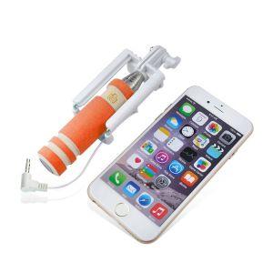 Verdrahteter faltbarer Selfie Ministock mit Kabel-passen in Ihre Tasche - Stecker u. Spiel
