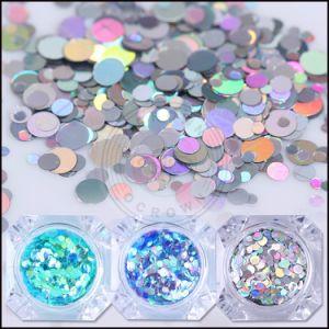 Taille mixte holographique glitter ongle des paillettes de flocons de décorations d'ongles