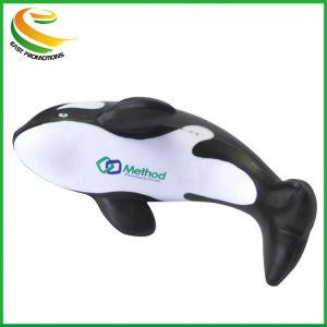 O logotipo personalizado Dom promocionais espuma de PU Dolphin Stress Reliever Ball