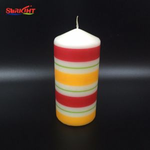 La decoración de lujo Plliar Diamond cinta vela con la etiqueta de imagen