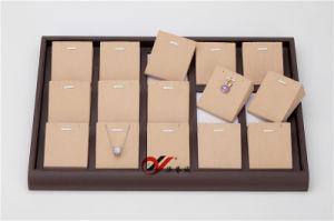 Microfiber met Leer 24 van de Koffie Pu het Dienblad van de Vertoning van de Oorring van Netten