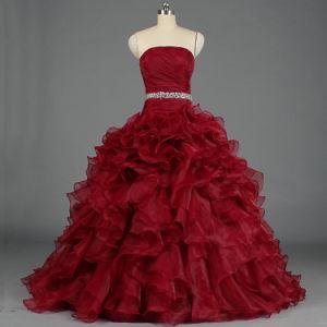 4bbce3795 La mujer es bastante balón vestido Quinceañera volante parte de la Prom  vestidos de noche E378
