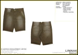 Shorts cachi degli uomini della tintura dell'indumento dello Spandex del cotone, usura casuale, 2016