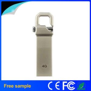 Свободной от лазерной печати с логотипом крючок металлический флэш-накопитель USB 16 ГБ