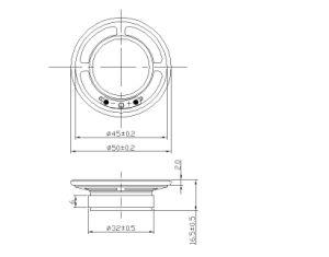 fabbrica impermeabile rotonda RoHS dell'altoparlante di 50mm 8ohm 1W Mylar