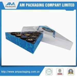 Lujo personalizado papel cartón de embalaje de chocolate de regalo