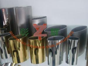 Tubo rotondo dell'acciaio inossidabile con Dorato-Placcato
