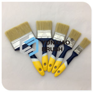 Escova de pintura plástica do punho com cerda pura