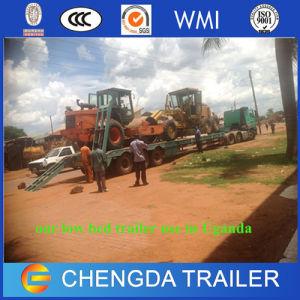 Exkavator-Transport-Fahrzeug Lowbed Lowboy der Kapazitäts-60ton Schlussteil in Afrika