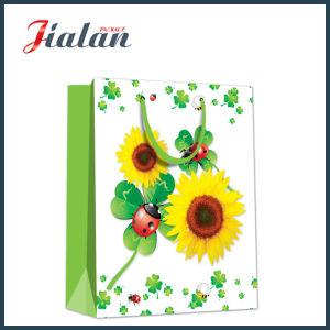 도매 선물 패킹 해바라기 디자인 쇼핑 운반대 선물 종이 봉지