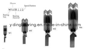 W2 W2X para el riel guía deslizante teniendo RM2 ZZ RM2 2V del cojinete de la ranura de RS