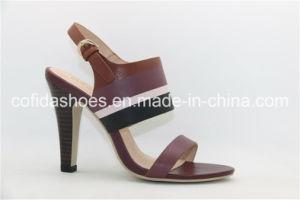 Élégant talon dame de la TOE sandale ouverte avec un design simple