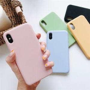 La cubierta del teléfono mayorista de silicona líquida para el iPhone Xr Xs Max Funda de silicona